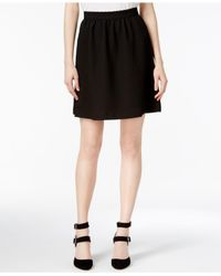 Kensie | Black Textured A-line Skirt | Lyst