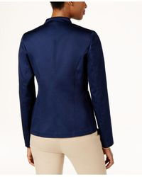 Charter Club Blue Zip-front Jacket