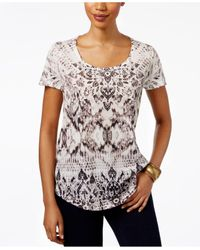Style & Co. | Multicolor Sublimated-print T-shirt | Lyst