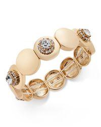 Charter Club   Metallic Gold-tone Crystal Stretch Bracelet   Lyst