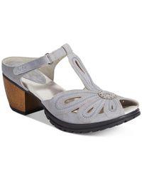 Jambu   Gray Women's Sahara T-strap Sandals   Lyst