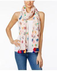 Kate Spade - Pink Souk Cotton Scarf - Lyst