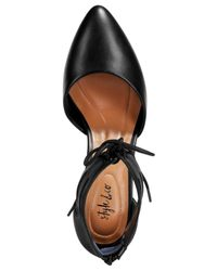 Style & Co. - Black Women's Vanaa Lace-up Pumps - Lyst