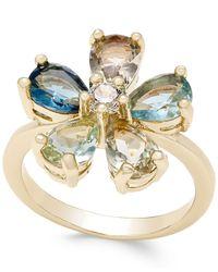 Charter Club | Metallic Gold-tone Multi-crystal Flower Ring | Lyst