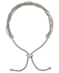 Vera Bradley | Metallic Rose Gold-tone Tasseled Slider Bracelet | Lyst