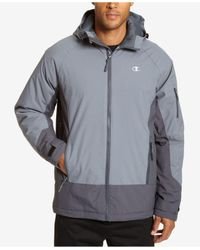Champion | Gray Men's Tech Hooded Snowboard Jacket for Men | Lyst