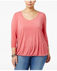 Jessica Simpson | Pink Trendy Plus Size Ramy Cutout-back Top | Lyst