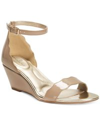 Bandolino | Natural Opali Scalloped Wedge Sandals | Lyst
