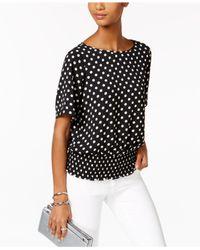 Michael Kors | Black Petite Dot-print Kimono Top | Lyst