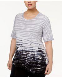 Calvin Klein - Multicolor Plus Size Encinatas Tie-dyed Top - Lyst