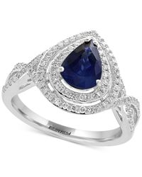 Effy Collection | Metallic Sapphire (1 Ct. T.w.) And Diamond (3/8 Ct. T.w.) Ring In 14k White Gold | Lyst