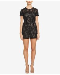 1.STATE | Black Short-sleeve Lace Romper | Lyst