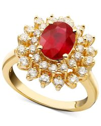 Effy Collection - Metallic Royalty Inspired By Effy Ruby (1-9/10 Ct. T.w.) And Diamond (1 Ct. T.w.) Oval Ring In 14k Gold - Lyst