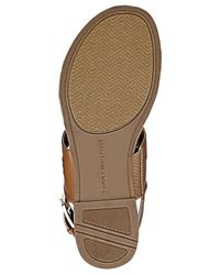 Tommy Hilfiger | Brown Lerry Flat Sandals | Lyst