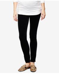AG Jeans | Maternity Velveteen Black Wash Skinny Jeans | Lyst
