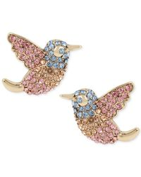 Betsey Johnson | Multicolor Pavé Bird Stud Earrings | Lyst