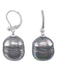 Majorica | Metallic Sterling Silver Earrings, Organic Man-made Baroque Pearl | Lyst