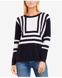 VINCE | Blue Colorblocked Top | Lyst