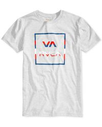 RVCA - Gray Men's Stringer All The Way Graphic-print Logo Cotton T-shirt for Men - Lyst