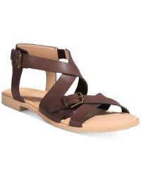 Esprit - Brown Sunny Strappy Sandals - Lyst