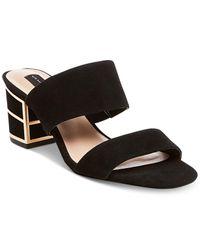 Steven by Steve Madden | Black Women's Siggy Block-heel Sandals | Lyst