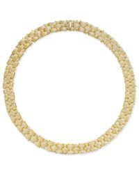 Macy's | Metallic Textured Woven Necklace In 14k Gold-plated Sterling Silver | Lyst