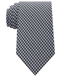Sean John - Black Men's Houndstooth Solid Tie for Men - Lyst