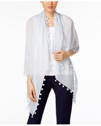 Eileen Fisher   Multicolor Cotton Wrap   Lyst