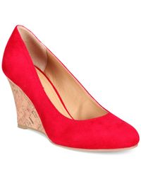 Rialto - Red Celina Wedge Pumps - Lyst