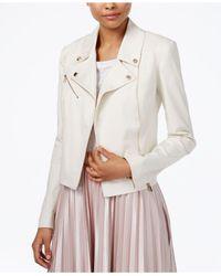RACHEL Rachel Roy - Natural Zipper-pocket Moto Jacket - Lyst