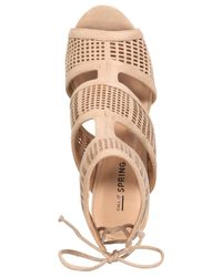Call It Spring - Natural Forcey Strappy Sandals - Lyst