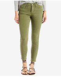 Levi's Green 311 Shaping Skinny Ankle Jeans
