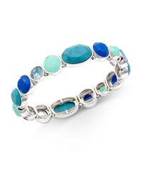 Nine West | Silver-tone Blue Stone Stretch Bracelet | Lyst