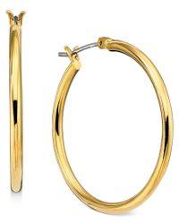 Lauren by Ralph Lauren | Metallic Gold-tone Hoop Earrings | Lyst