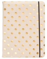 kate spade new york | Metallic Dot Notepad Folio | Lyst