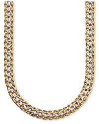 Macy's | Metallic 14k Gold Over Sterling Silver And Sterling Silver Necklace, Mesh | Lyst