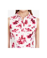 American Living - Pink Floral-print Sateen Dress - Lyst