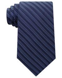 Michael Kors   Blue Men's Ribbed Stripe Tie for Men   Lyst