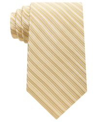 Michael Kors | Yellow Men's Ribbed Stripe Tie for Men | Lyst