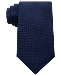 Michael Kors   Blue Men's Split Square Solid Tie for Men   Lyst