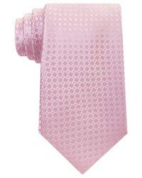 Michael Kors - Pink Men's Split Square Solid Tie for Men - Lyst