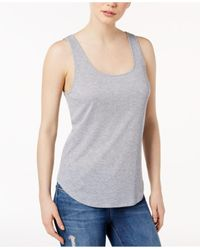 Kensie | Gray Ribbed Tank Top | Lyst