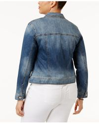 Celebrity Pink | Blue Trendy Plus Size Denim Jacket | Lyst