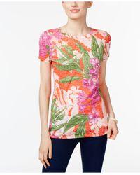 INC International Concepts - Multicolor Burnout T-shirt - Lyst