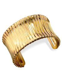 Kenneth Cole - Metallic Bracelet, Gold-tone Cuff - Lyst