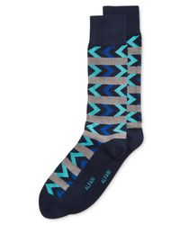 Alfani   Blue Men's Chevron Stripe Socks for Men   Lyst