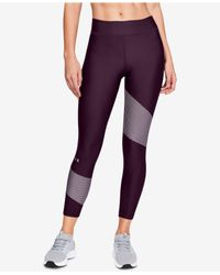 Under Armour - Purple Heatgear® Compression Ankle Workout Leggings - Lyst
