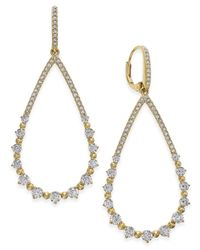 Danori - Metallic Pavé And Crystal Teardrop Drop Earrings - Lyst