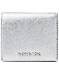 Michael Kors | Metallic Michael Jet Set Travel Carryall Card Case | Lyst
