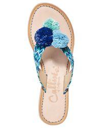 Callisto - Blue Pomm Flat Sandals - Lyst